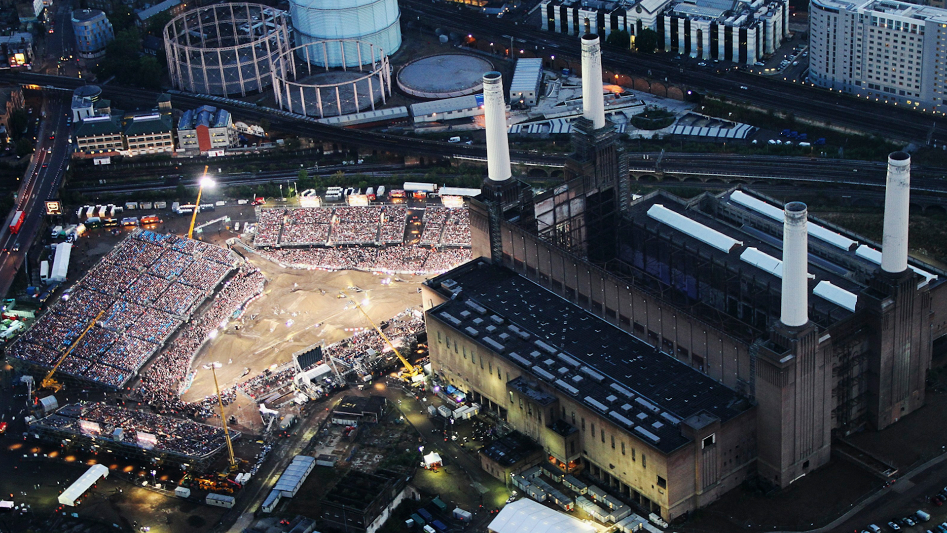 Red Bull X-Fighters London - Aearial View