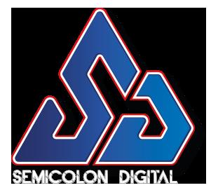 Semicolon Icon with Font