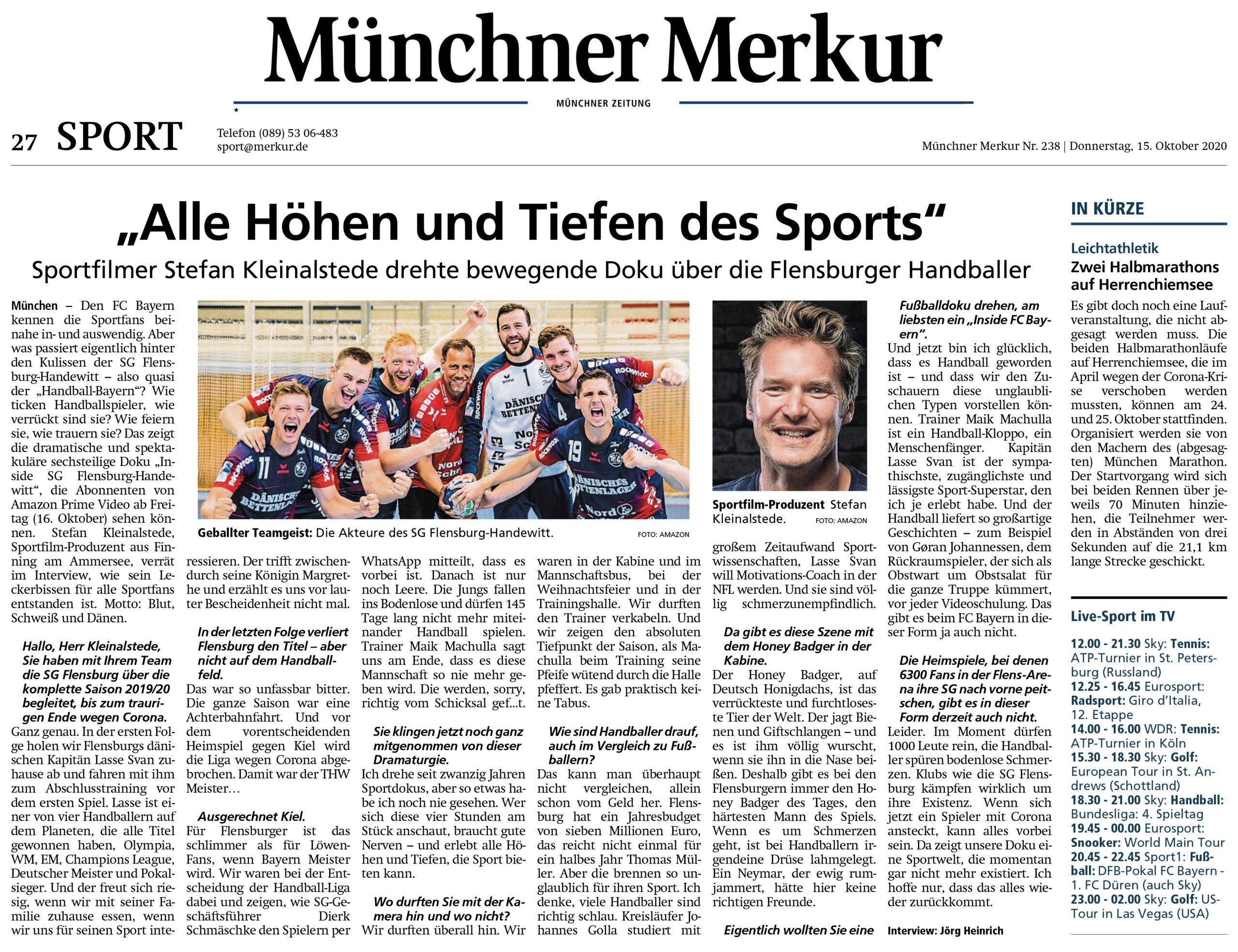 Münchener Merkur - Story Amazon Prime - Inside SG Flensburg