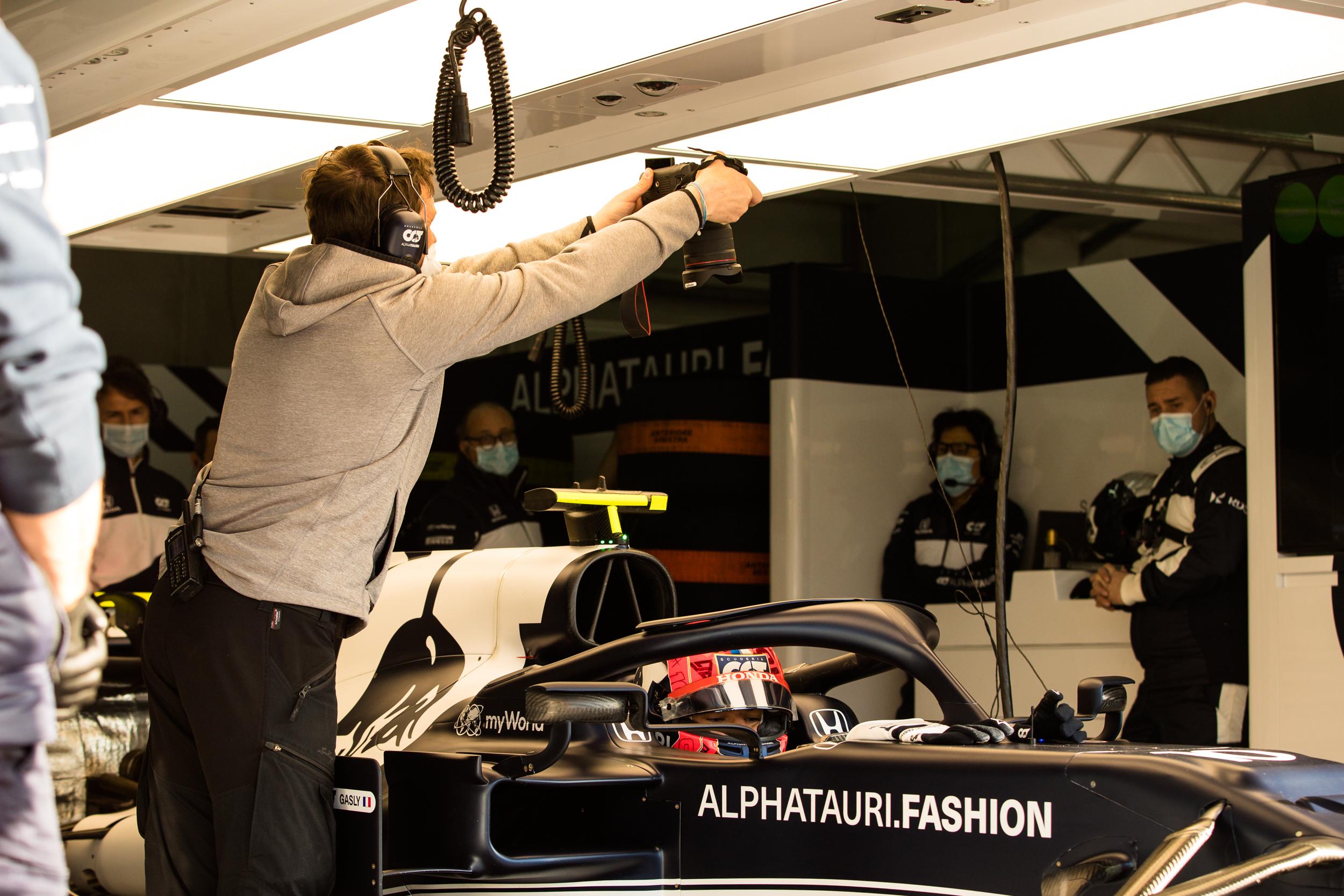 Samo Vidic loves to have unique views - Alpha Tauri F1 Shakedown 2021