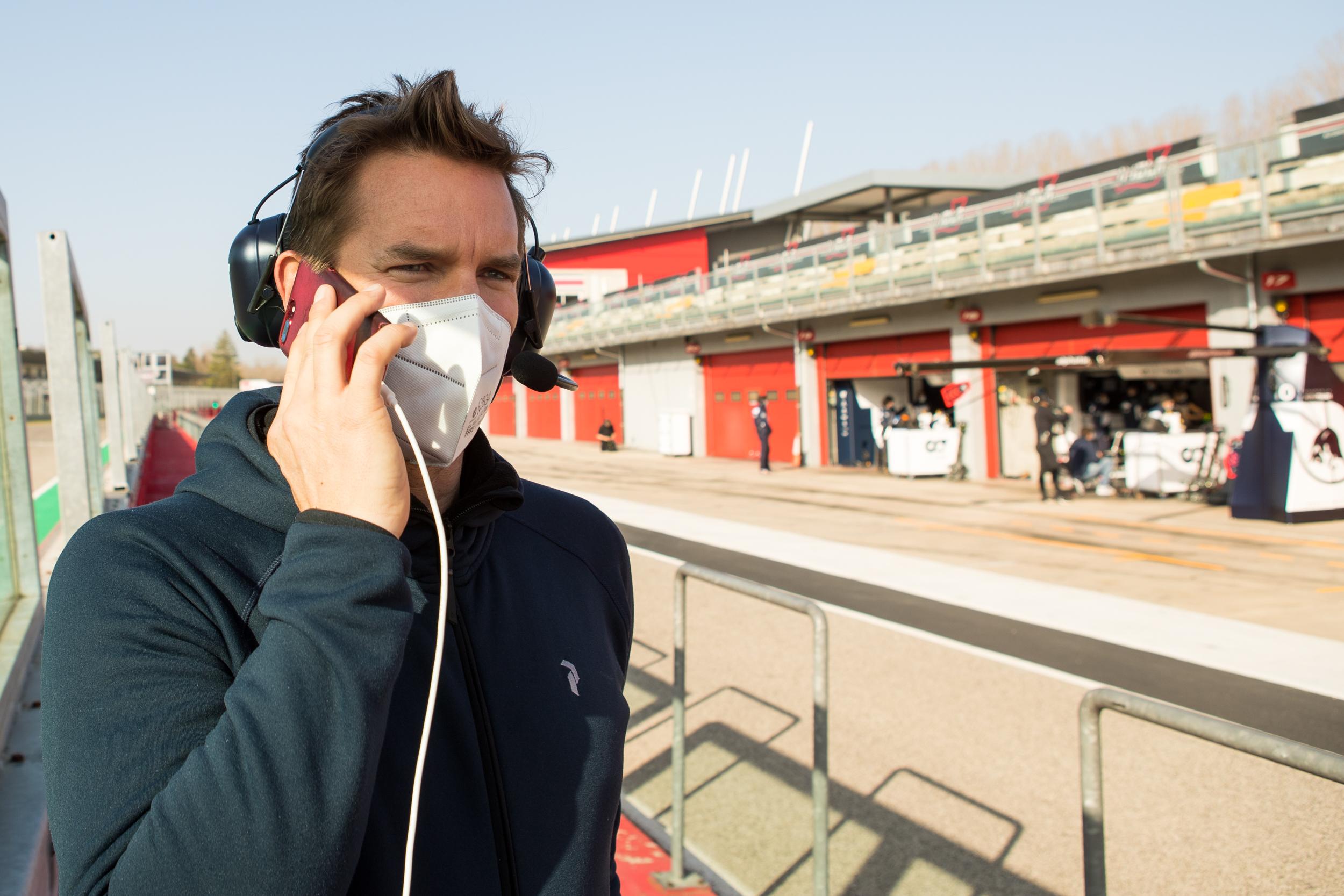 Stefan in command - Alpha Tauri F1 Shakedown 2021