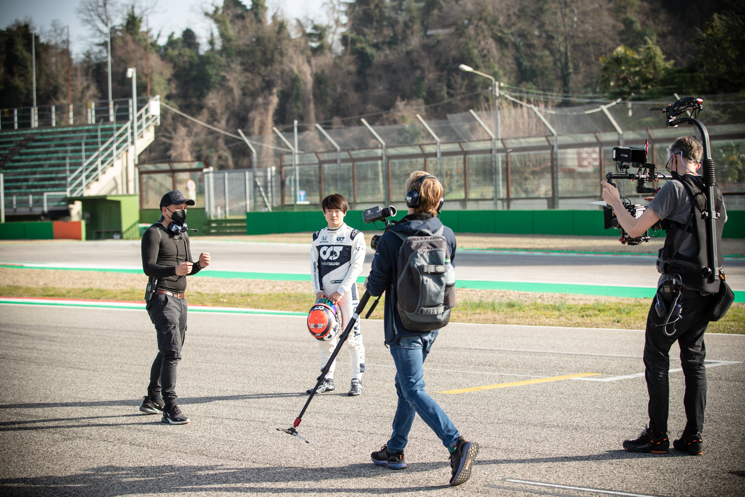 Phuong directing - Alpha Tauri F1 Shakedown 2021