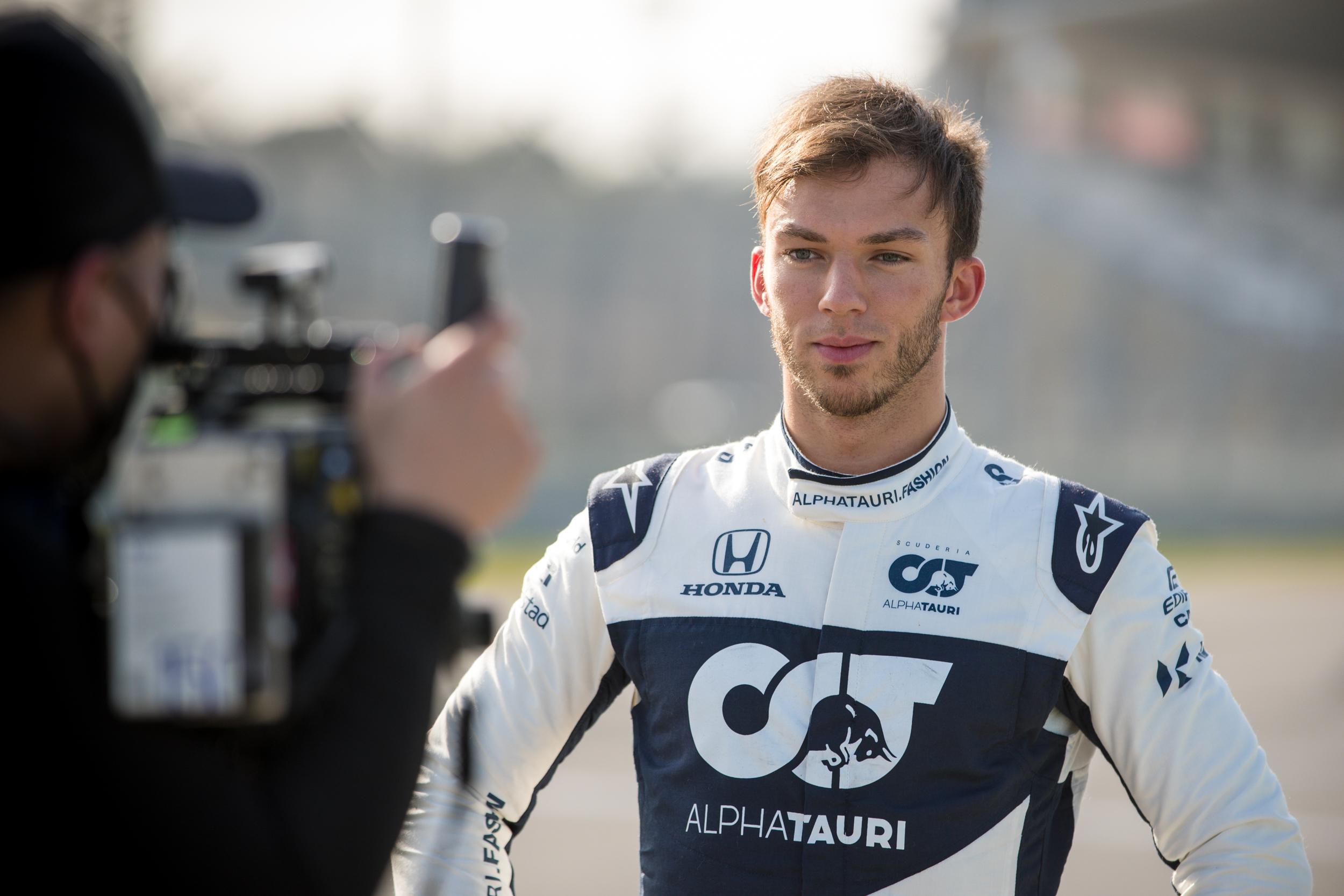 Phuong Herzer filming Pierre Gasly - Alpha Tauri F1 Shakedown 2021