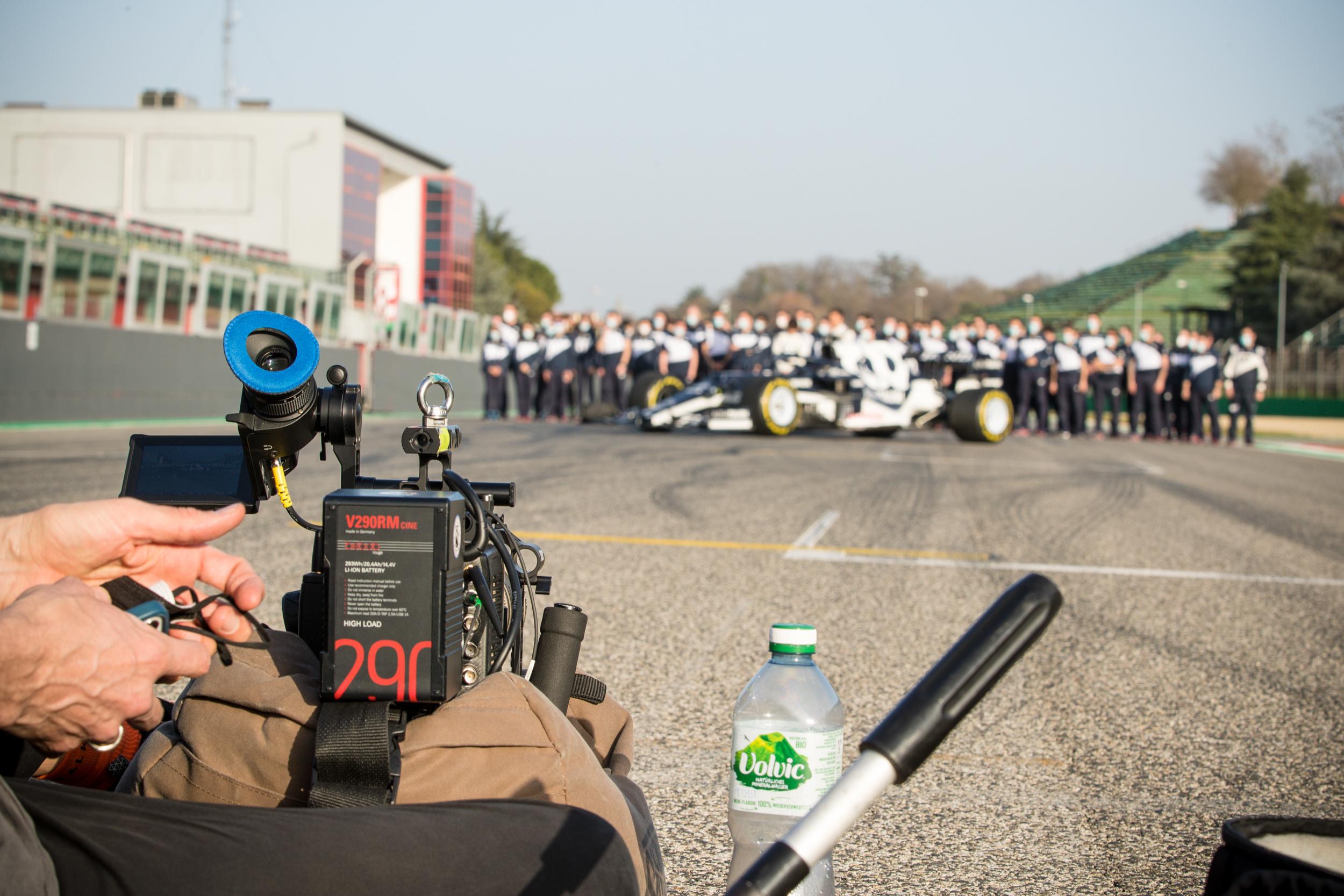 Tobi setting up the Arri Alexa - Alpha Tauri F1 Shakedown 2021