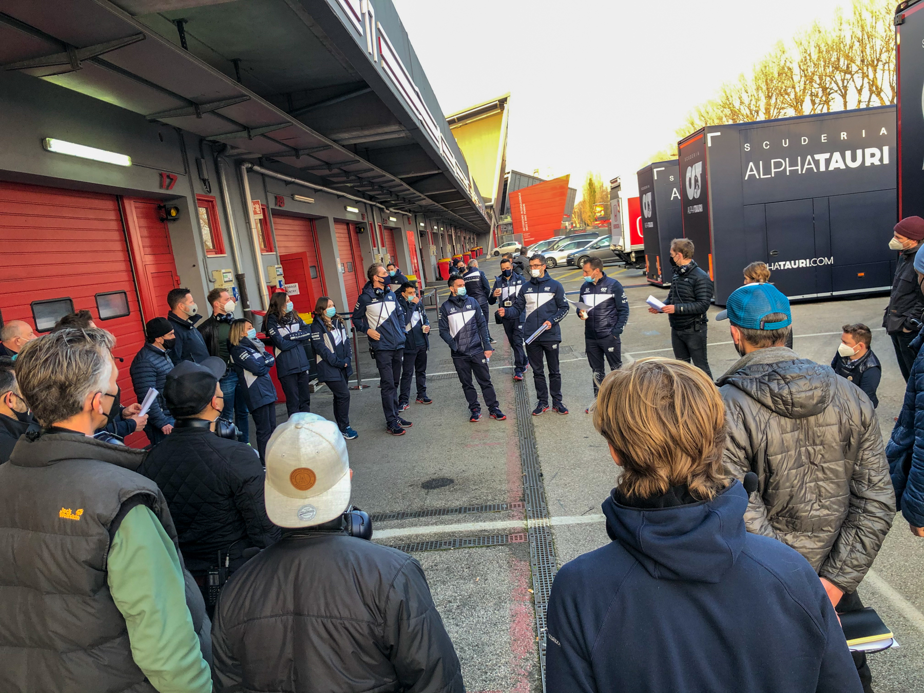 Big Morning Meeting - Alpha Tauri F1 Shakedown 2021