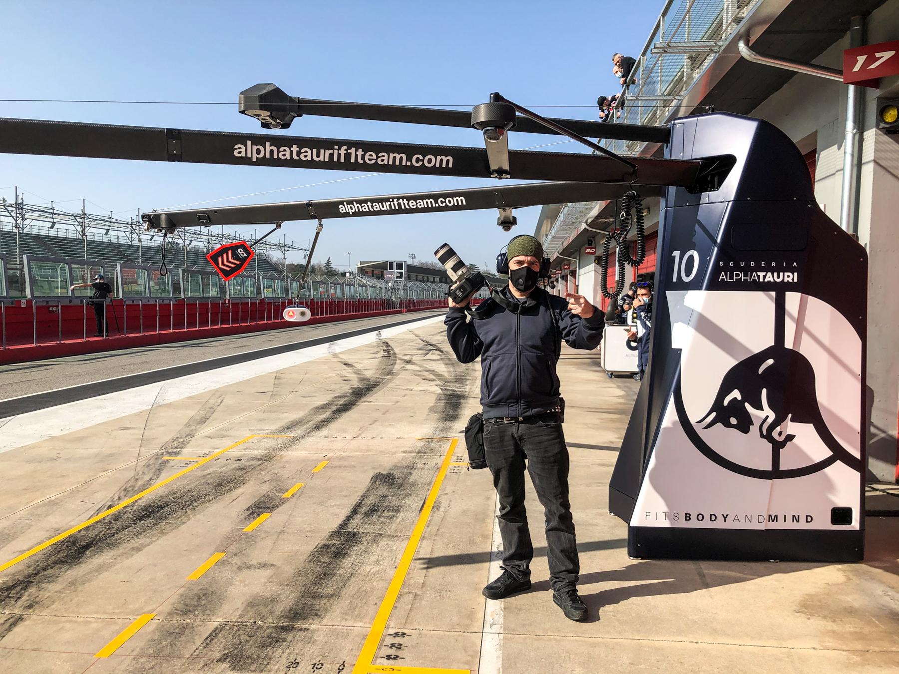 Oli having a Pit-Stop - Alpha Tauri F1 Shakedown 2021