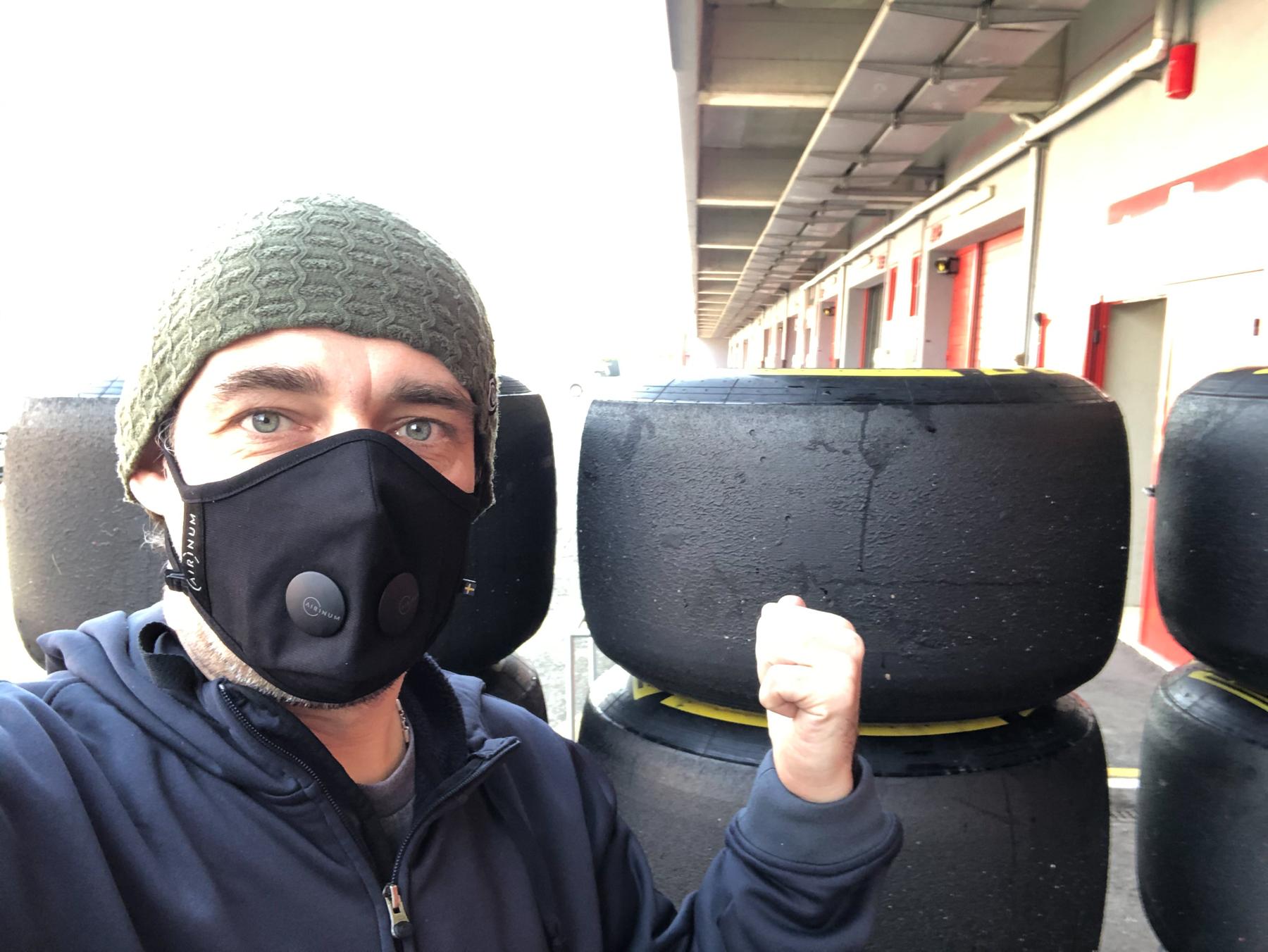 Finally new tires arrived via DHL - Alpha Tauri F1 Shakedown 2021